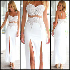 2015 New Real Image Sexy White women Lace Evening Prom Dress Fashion Casual Wear