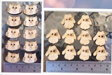 10 Pcs.Wood Buttons Craft Trimming Sewing Dog/Cat Shaped 2 Holes 25mm.  U Choice