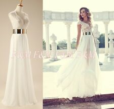 On sale V neck high slit chiffon prom party gown long evening dresses for women