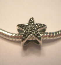 Authentic .925 Silver StarFish European Charm for Bracelet USA Seller