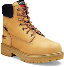 Mens Timberland PRO 65016 6-Inch Waterproof Steel Toe Safety Boots Wheat (E,W)