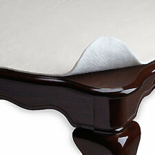 """New White Table Protector Table Pad Vinyl Flannel Back - 52"""" X 70""""/90""""/108""""/120"""""""