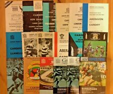 Cardiff Rugby Programmes 1952 - 1997