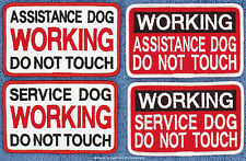 1 ASSISTANCE SERVICE DOG WORKING DO NOT TOUCH PATCH Danny & LuAnns Embroidery