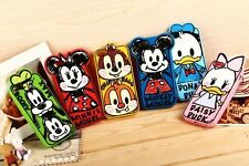 New 3D Cartoon Soft Silicone Graffiti Disney Case Cover for iPhone 6 Plus 4S 5S