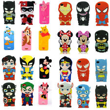 Hot New 3D Cartoon Comic Film Rubber Case Cover Super Hero for iPhone 5S 4 4G 4S