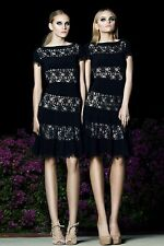 Joseph Ribkoff 143444 Black Nude Lace Dress Sz 2-16 UK 4-18 Retail $245