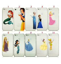 Disney Princess Tinkerbell Ariel Snow White Belle Case Cover For iPhone 5s 6 6+