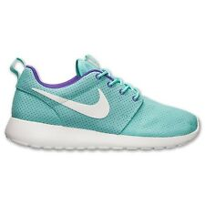 (511882-353) Women's Nike Roshe Run White/Hyper Grape/Hyper Turq