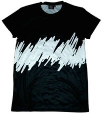 black and white abstract art sublimated shirt hermes and versace inspired