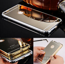 """Luxury Aluminum Metal Mirror Effect Clear Case Cover For iPhone 6 4.7"""" 5.5"""" Plus"""