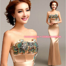 Y199 Mermaid Formal Evening Prom Party Dress Bridesmaid Dresses Ball Gown Gift