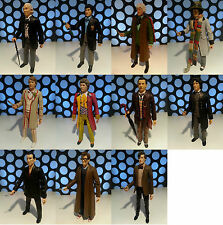 "DOCTOR WHO 11 DRS CLASSIC AND NEWS SERIES 5"" ACTION FIGURES LOOSE LOT COLLECTION"