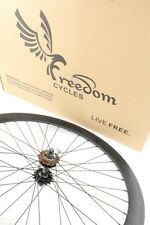 Freedom 700C Front, Rear, or Wheelset 50MM Fixie - Fixed Gear - Black