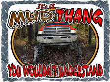 DODGE RAM TRUCK LIFTED 4X4 MUD THANG BOGGING T-SHIRT NEW IN SIZE SMALL-4XL