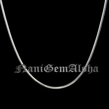 Hawaiian 925 Sterling Silver Polish Square Snake Chain 1mm Chain Necklace