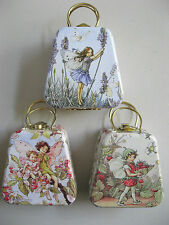 FLOWER FAIRY HANDBAG - TINY GIFT TIN FAIRY BLING PURSE - WORKING CLASP & HANDLES