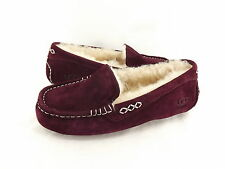 Women's Shoes UGG Ansley Moccasin Slippers 3312 Mahogany 5 6 7 8 9 10 11 *New*