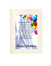 Personalised Birthday Card - A  Husband  Poem -  Various Ages