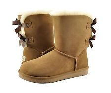 Women's Shoes UGG Australia Bailey Bow Boots 1002954 Chestnut 5 6 7 8 9 10 *New*