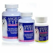 ANGELS EYES Dog & Cat Tear Stain Remover Eliminator Angel Eyes & Bright Coat