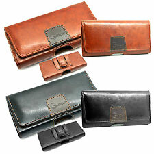 New Genuine Belt Clip Loop Pouch holster Leather Case Cover for Mobile Phones L