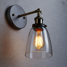 Vintage Industrial Light Retro Bell glass Wall Lamp Rustic Sconce