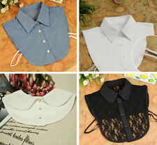 Unisex Women Peter Pan Detachable Lapel Shirt Fake False Collar Choker Necklace
