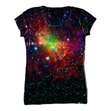 NewWorldCo- Space Galaxy Dumbell Nebula -Tagless- Ladies Shirt