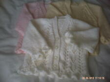 Hand Knitted Baby Girls Long Sleeve Cardigan In Various Colours Size 3-6 Months