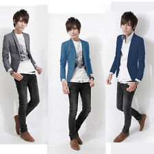 New Style Mens Casual Slim fit One Button Suit Blazer Coat Jackets korean