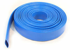 10Meter of Layflat PVC Water Delivery Hose Discharge Pump Irrigation Blue Tubing