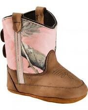 New Old West Baby Girl's Pink Realtree Camo Western Poppets Cowboy Boots 10038