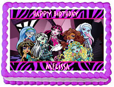 MONSTER HIGH Birthday Edible image Cake topper decoration