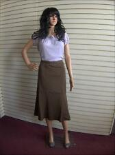 New Simply Be Pull On Ladies Skirt Length 28 in Plus Size 26 UK Brown Mocha