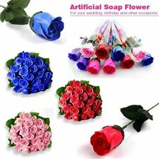 Artificial Soap Flower Roses Posy Wedding Bridal Bouquet Flowers Stem / Bunch