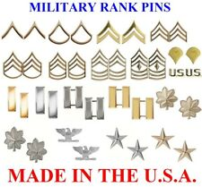 Polished Gold & Silver Plated Military Ranking Insignia Sets Pin On 1640