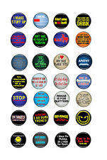 25mm, 58mm cool rude naughty funny,smart,sexy geek badges SELECTION 4