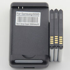 3 Battery 1 Wall Charger For Samsung Galaxy S3 i9300 i747 i535 L710 EB-L1G6LLU