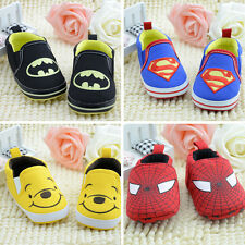 Kids Boy Girl Cartoon Sneaker Baby Toddler Anti-slip Sole Canvas Shoes Size0-18M
