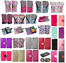 ZTE ZMAX Design Wallet Credit Card Stand Flip Phone Case Cover Accessory Z970