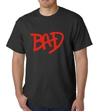 micheal jackson bad t shirt  logo new!!