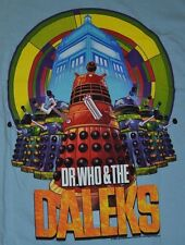 Doctor Who  Dr Who & The DALEKS Tardis Men's Adult T-Shirt Officially Licensed