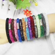 2015New Mesh Magnetic Resin Material Stardust Bangle Bracelet Swarovski Elements