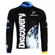 Discovery Cycling Clothing Bike Bicycle Long Sleeve Jersey Top Fleece Thermal
