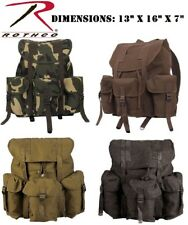 Military Style Cot/Canvas Rothco Mini Alice Pack Book Bag Rucksack Backpack 2897