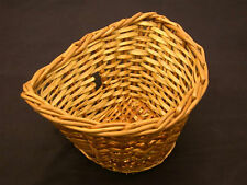 WICKER BIKE BASKET TRADITIONAL D SHAPE LADIES DUTCH HOLLAND STYLE SHOPPING BIKE