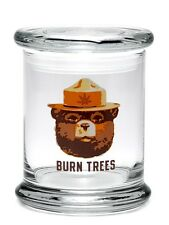 Pop-Top Stash Jar by 420 Science with Burn Trees Decal - Assorted Sizes