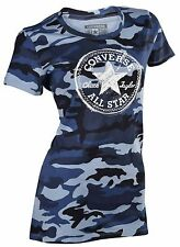 Converse Women's Camo Scratch Patch All Star T-Shirt-Blue