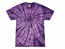 Purple, Tie Dye T-Shirts, Kids XS 2-4, S 6-8, M 10-12, L 14-16, Cotton, Gildan